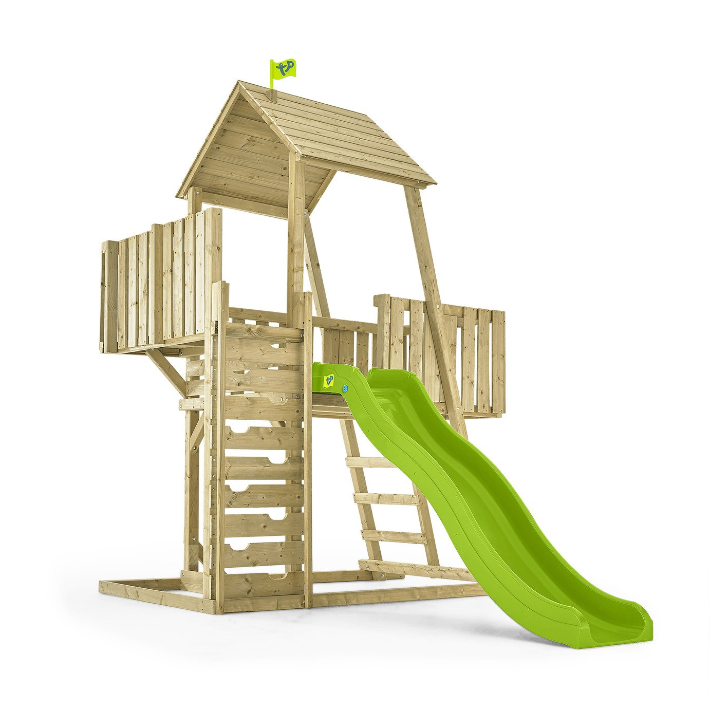 tp toys kingswood2 tower set with crazywavy slide.