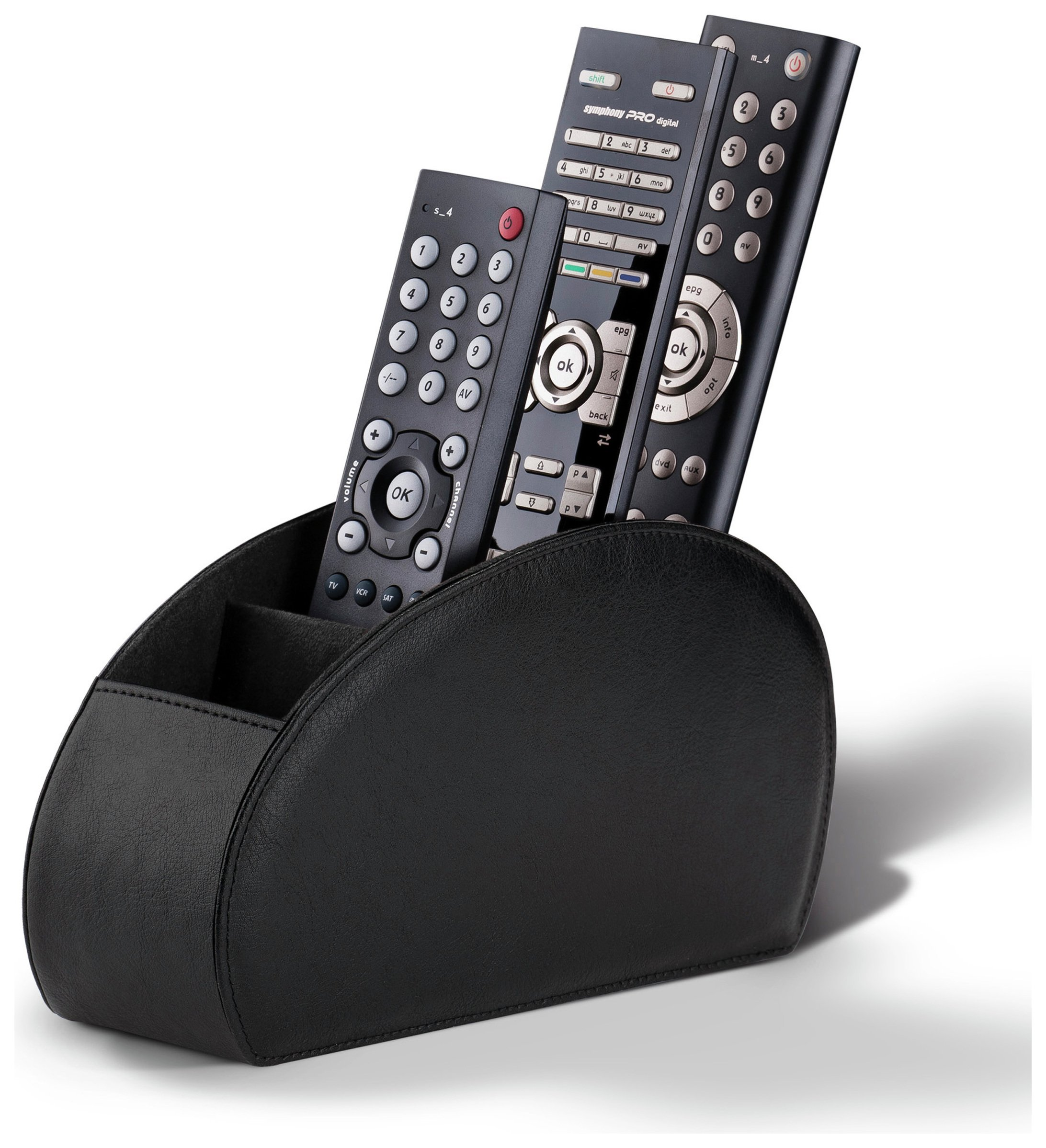 Image of Connected Essentials Luxury Remote Holder - Black.