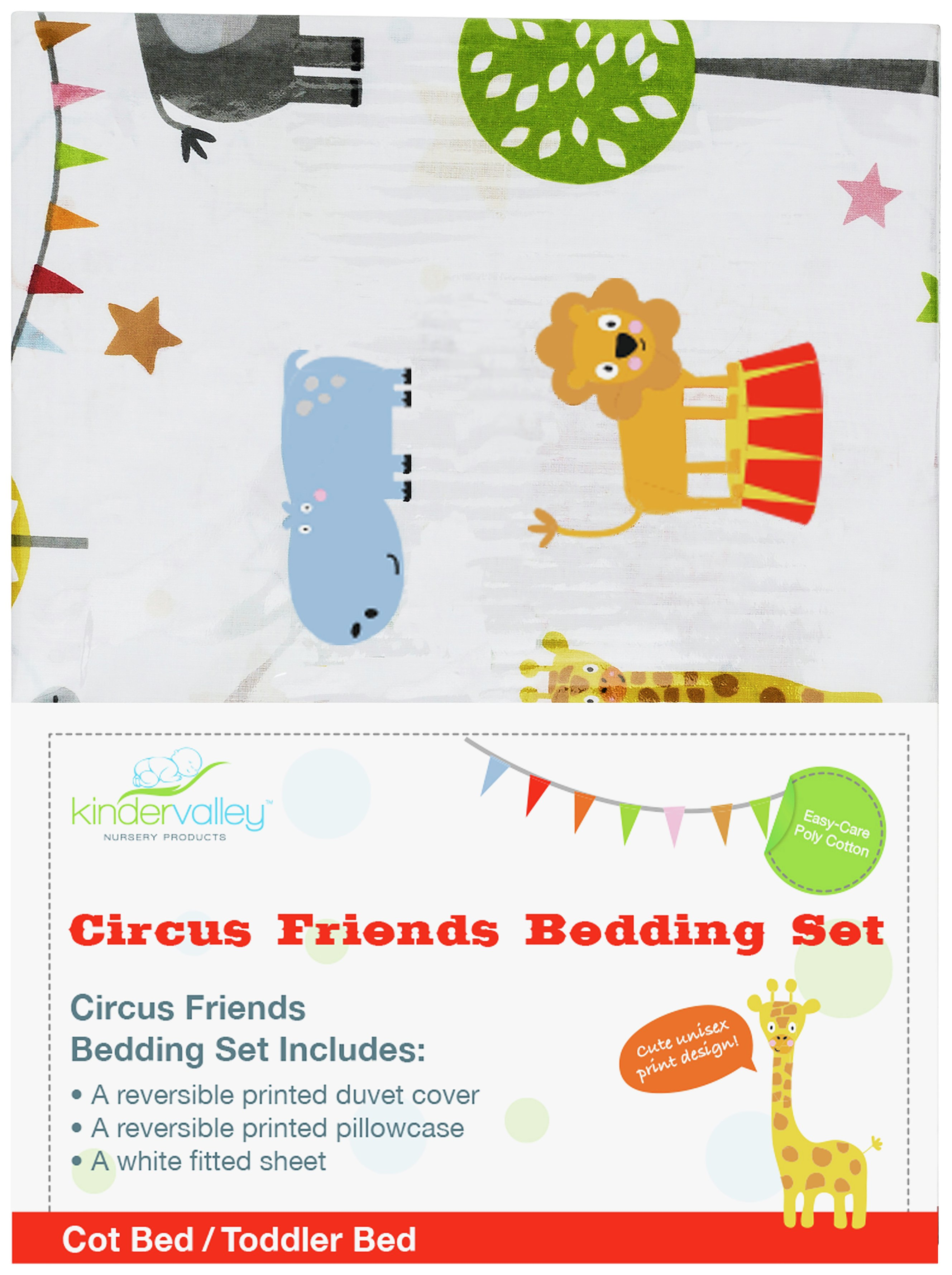 Kinder Valley Circus Friends Bedding Set Review
