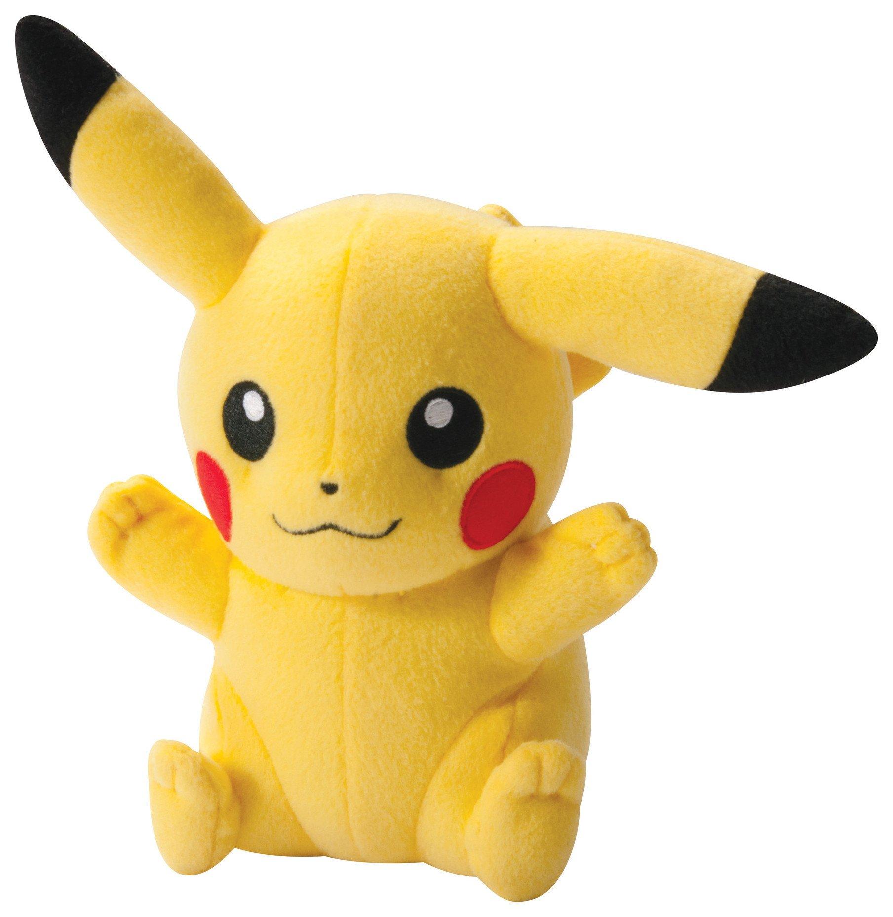 Pokemon Happy Pose Pikachu 8 Inch Plush.