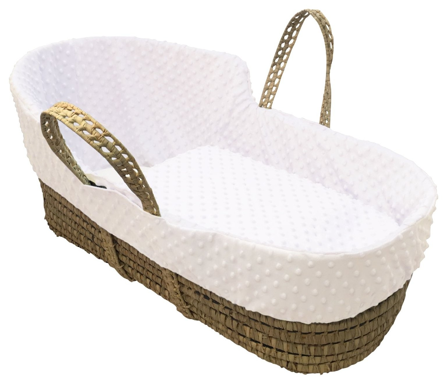 Clair de Lune Cream Dimple High Top Palm Moses Basket
