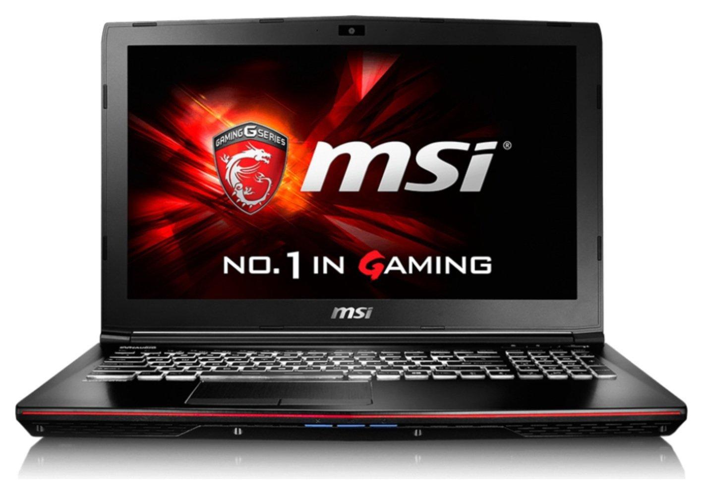 Image of MSI GE62 15.6 Inch i7 GTX950M 8GB 1TB Gaming Laptop.