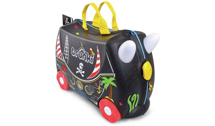 Trunki Pedro Pirate 4 Wheel Hard Ride On Suitcase - Black