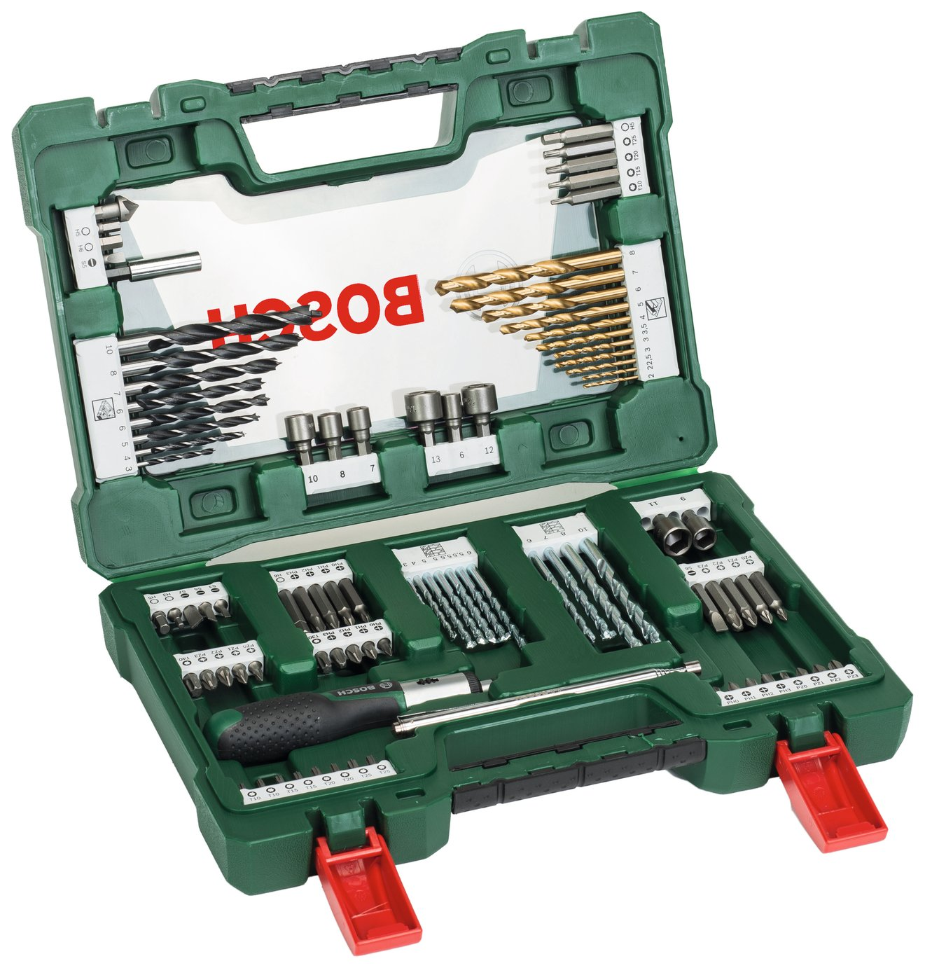 Image of Bosch 91 Piece V-Line Drill & Screwdriver Bit Set