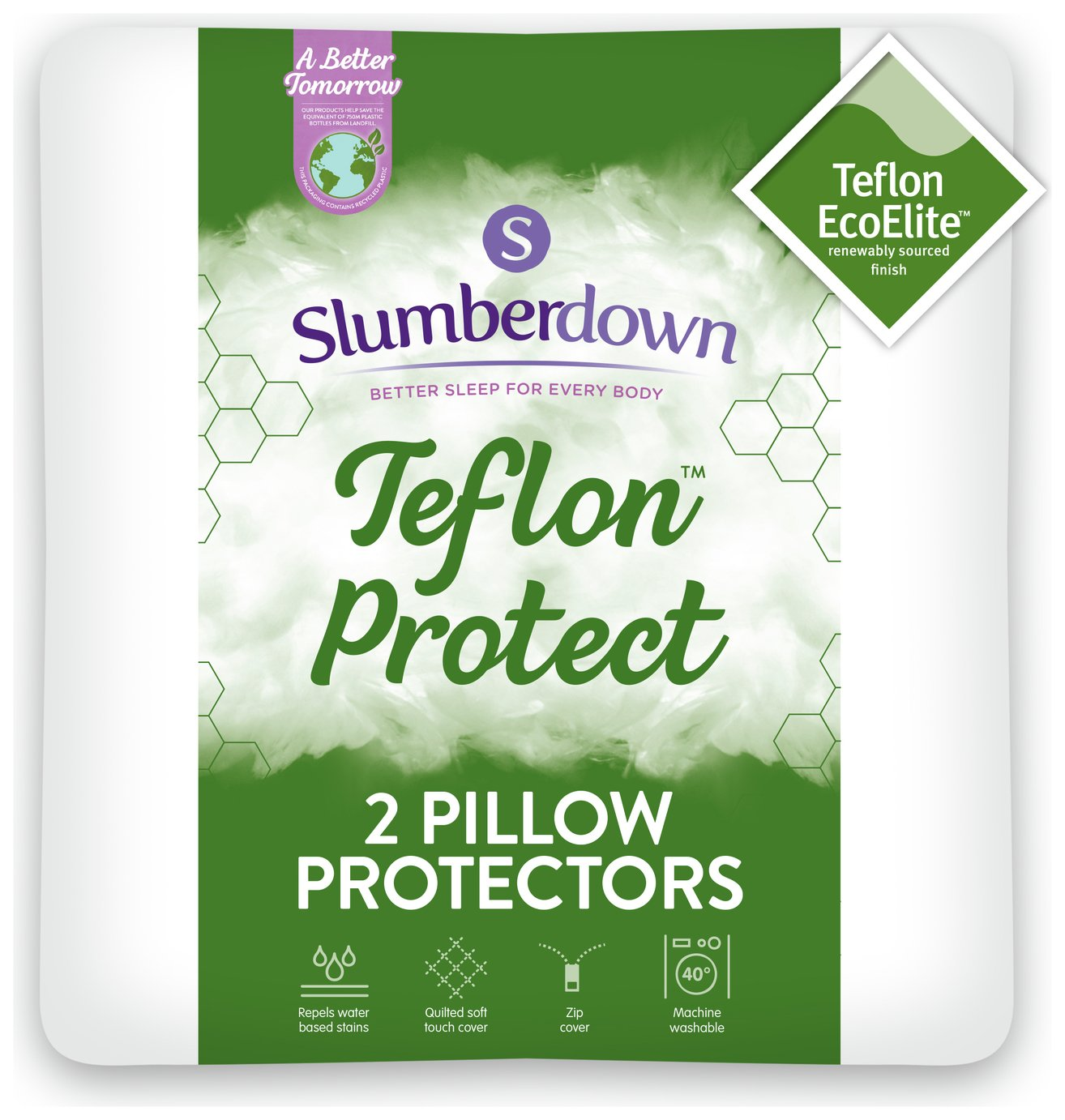 Slumberdown Teflon Protection Pillow Protector Pair