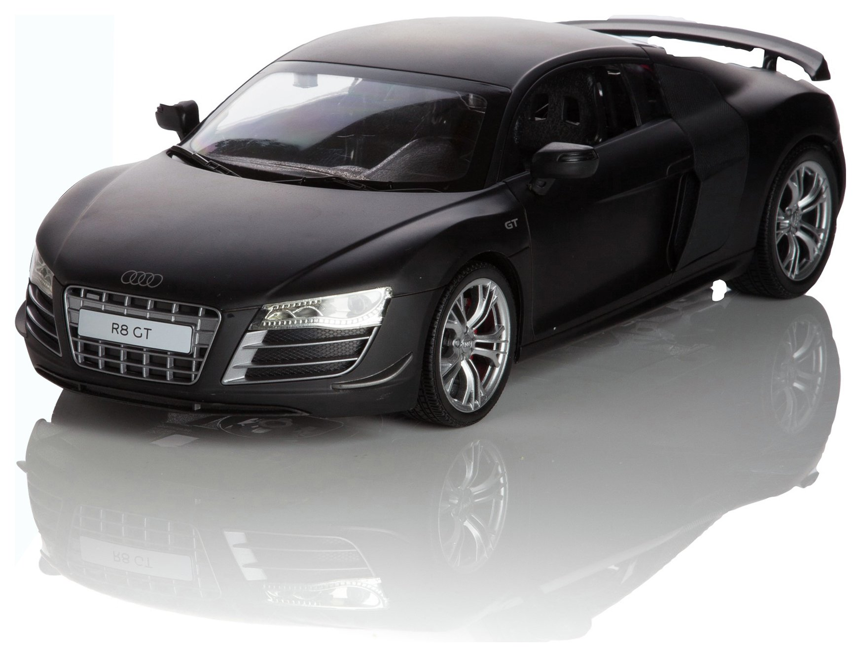 Image of Audi R8 1:14 Remote Control Car - Black.