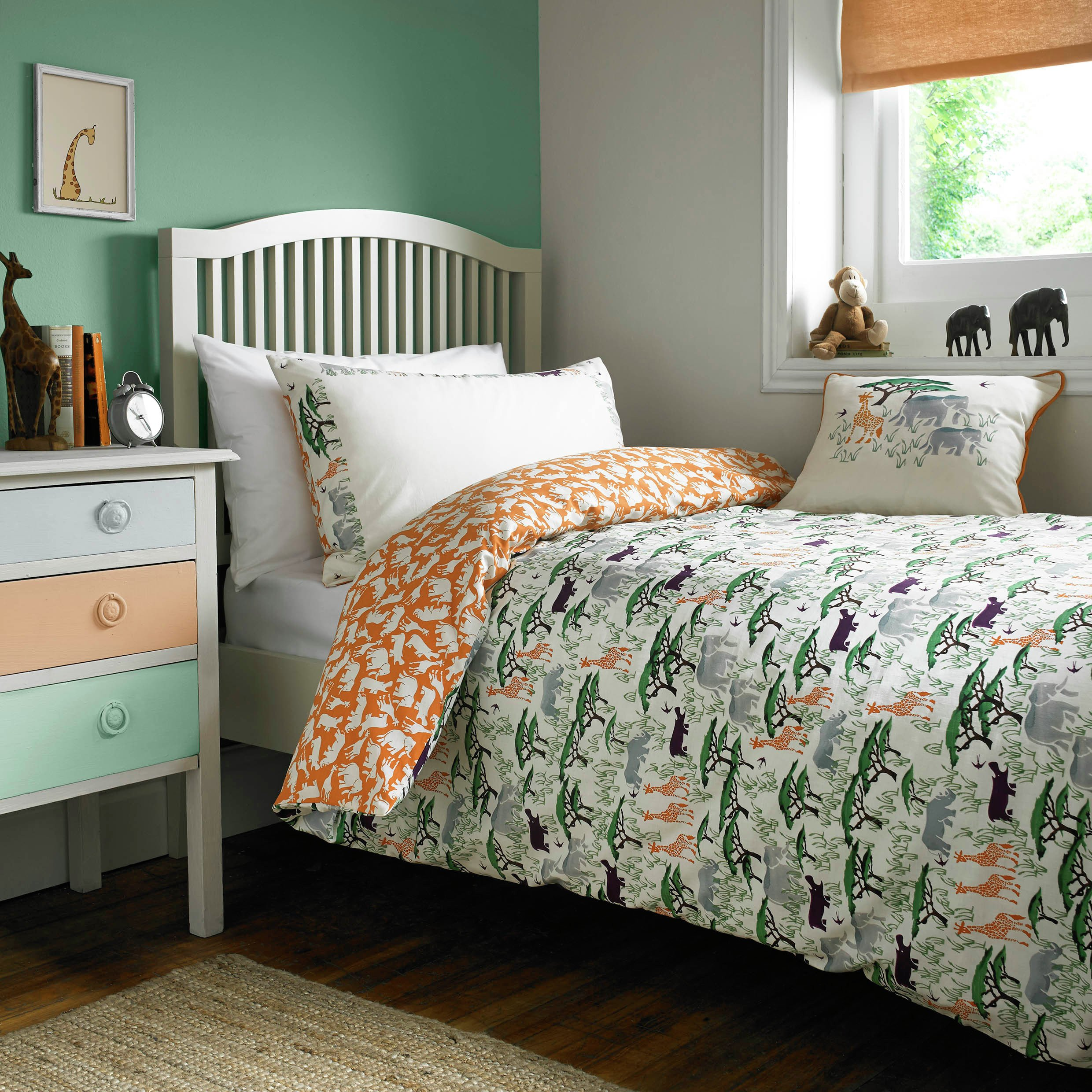 emma bridgewater safari bedding set  single.