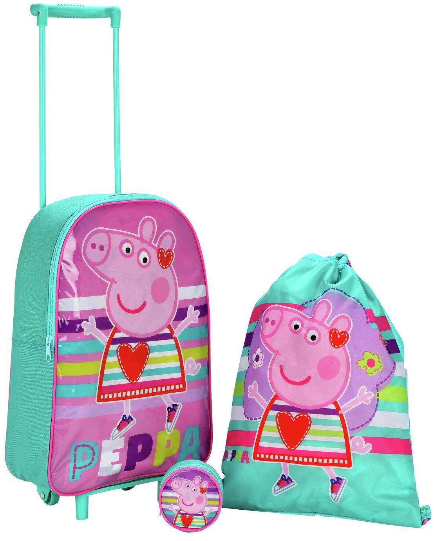 Image of Peppa Pig 3 Piece Luggage Set