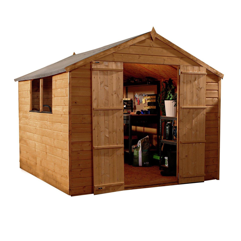 Mercia Wooden 8 x 8ft Shiplap Apex Garden Shed
