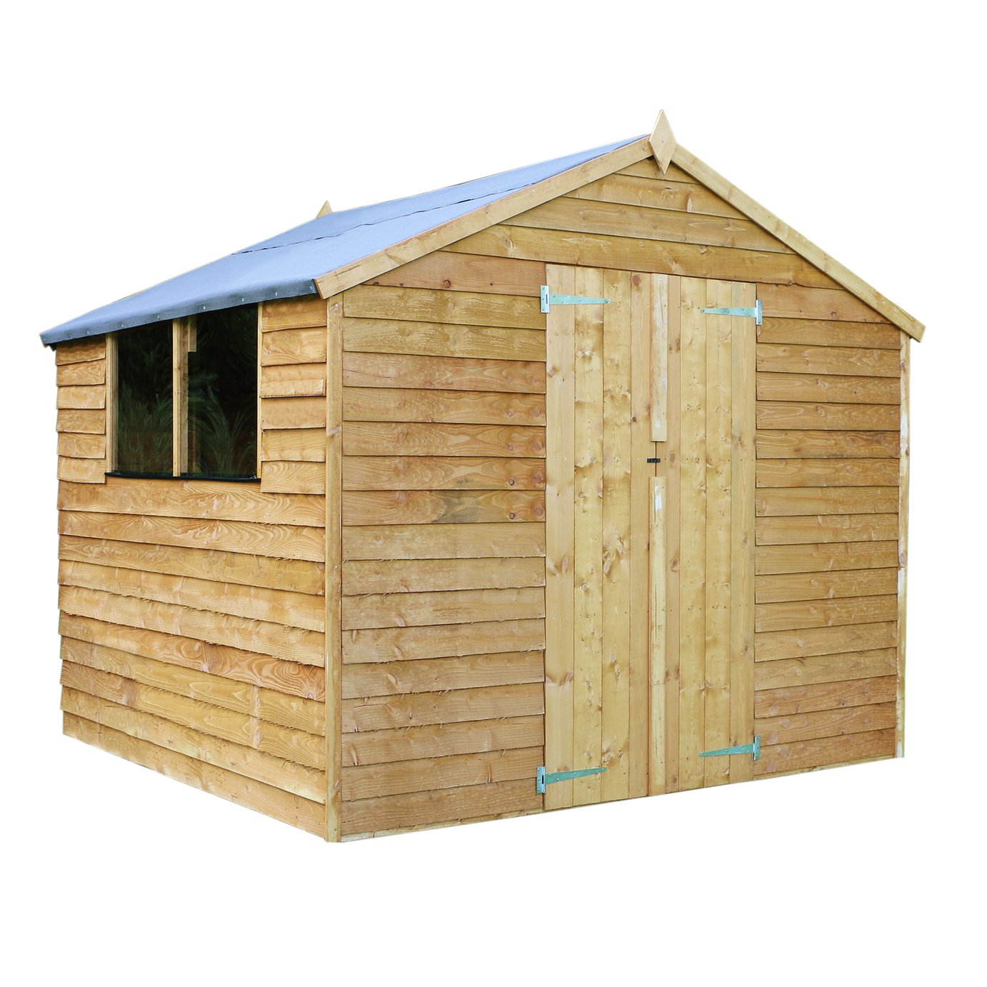 Mercia 8ft x 8ft Overlap Apex Garden Shed.
