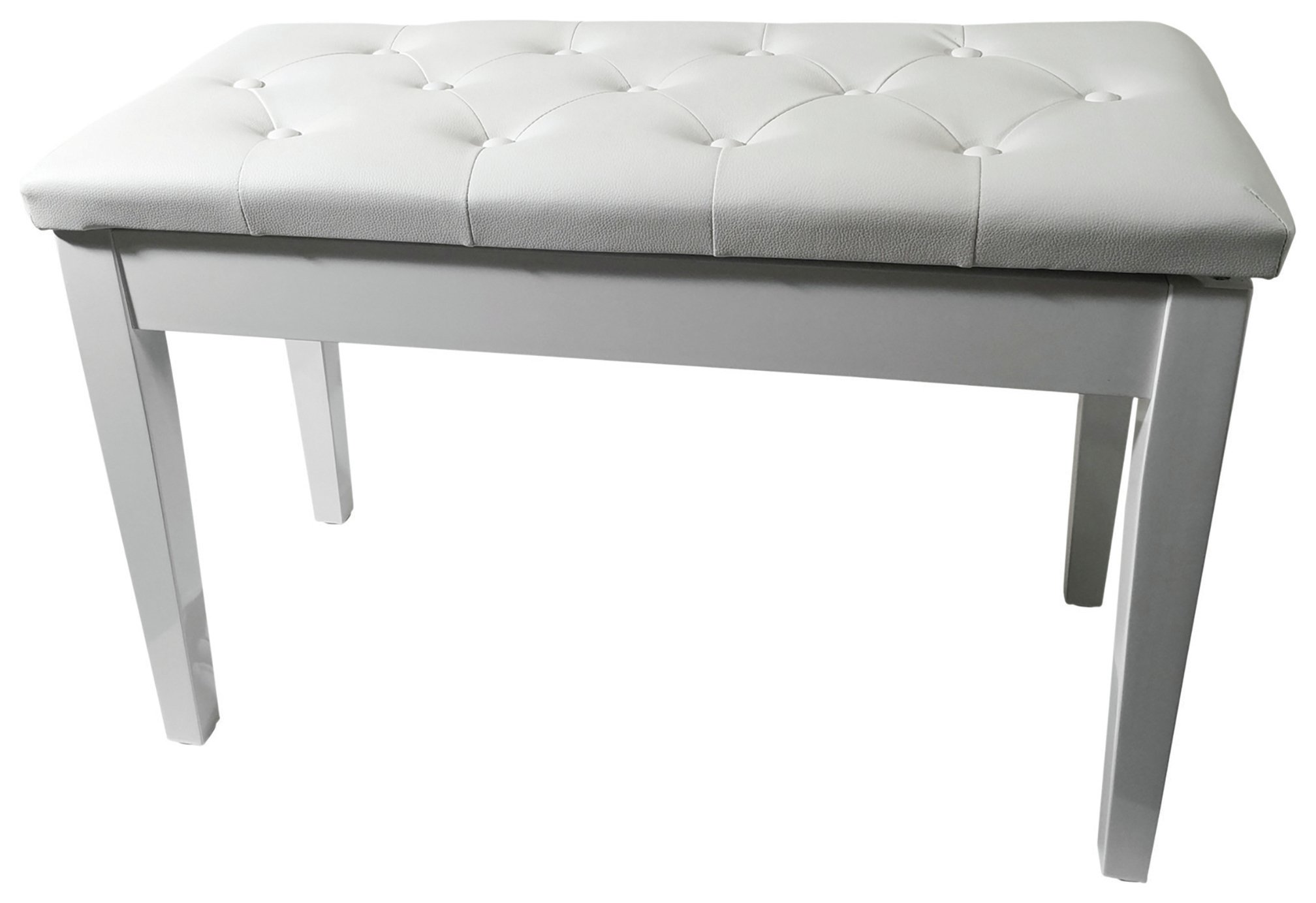 New Jersey Sound Piano Bench With Storage White