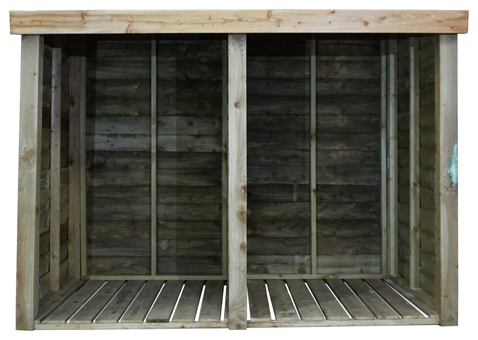 Image of Mercia 3ft x 7ft Pressure Treated Log Store.