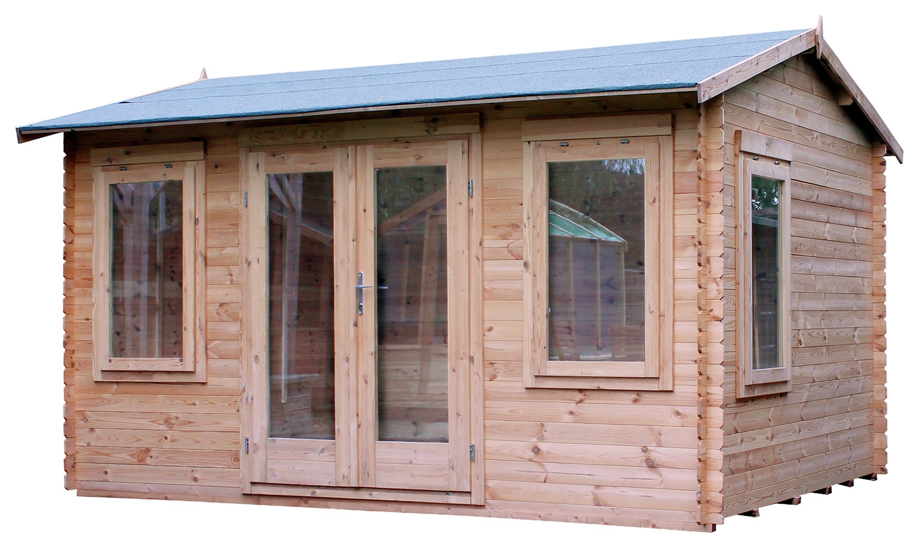 Mercia 4m x 3m sun room log cabin uk michael english for Kitchen designs 3m x 4m