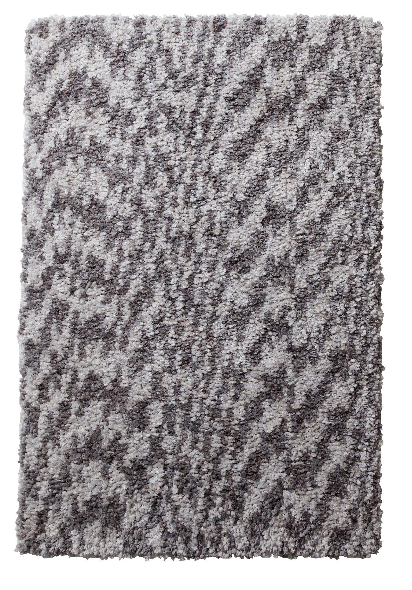 Argos Home Flump Shaggy Rug - 230x160cm - Grey Marl