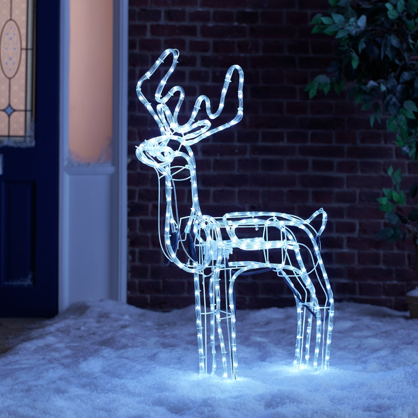 Collection - Bright White LED Animated Grazing Reindeer