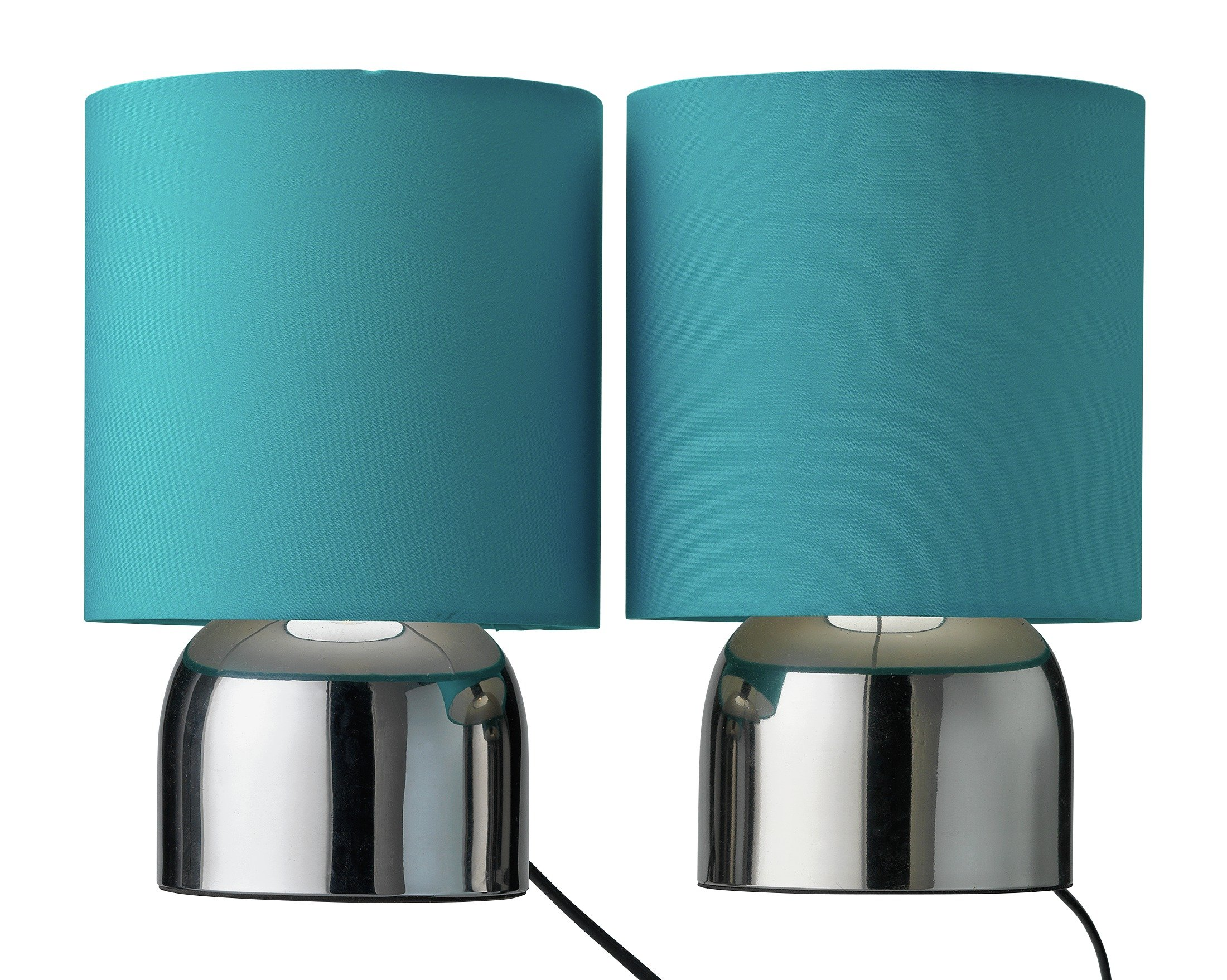 Image of ColourMatch Pair of Touch Table Lamps - Teal