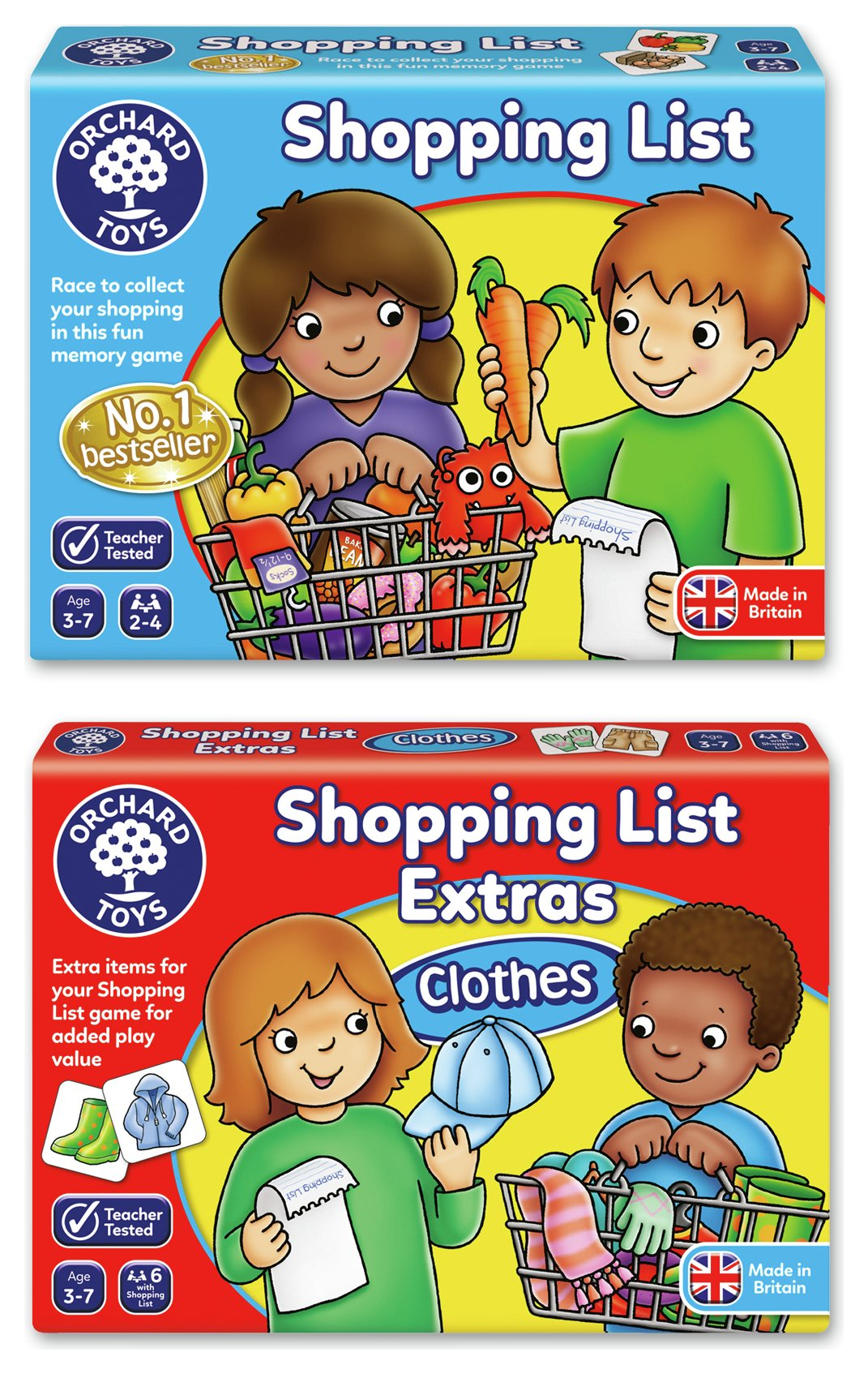 Orchard Toys Shopping List with Clothes Extras Memory Game.