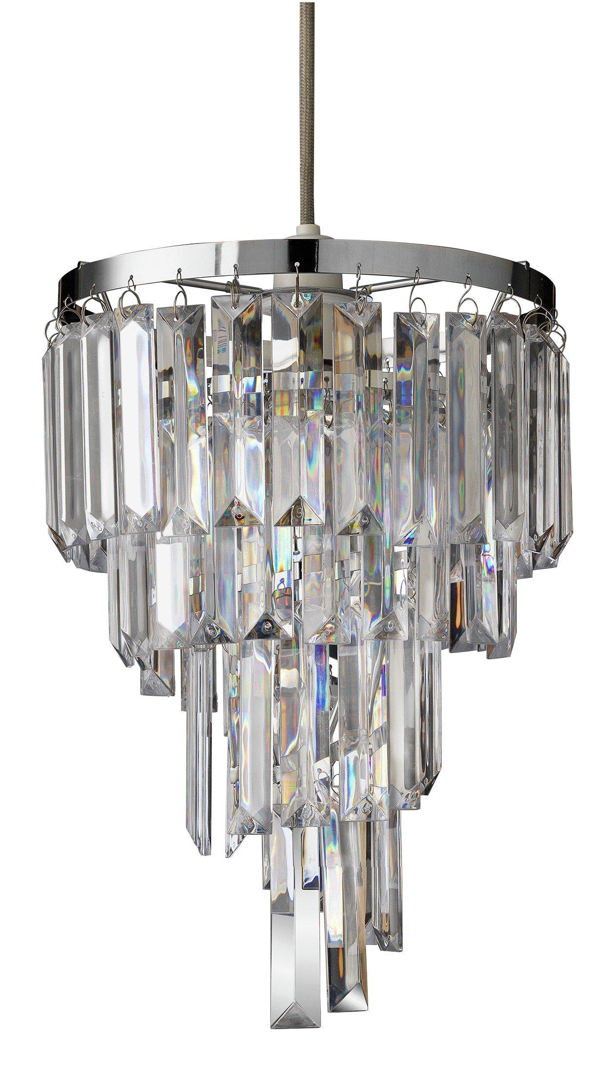 Argos Home Spiral Acrylic & Chrome Pendant Light Shade