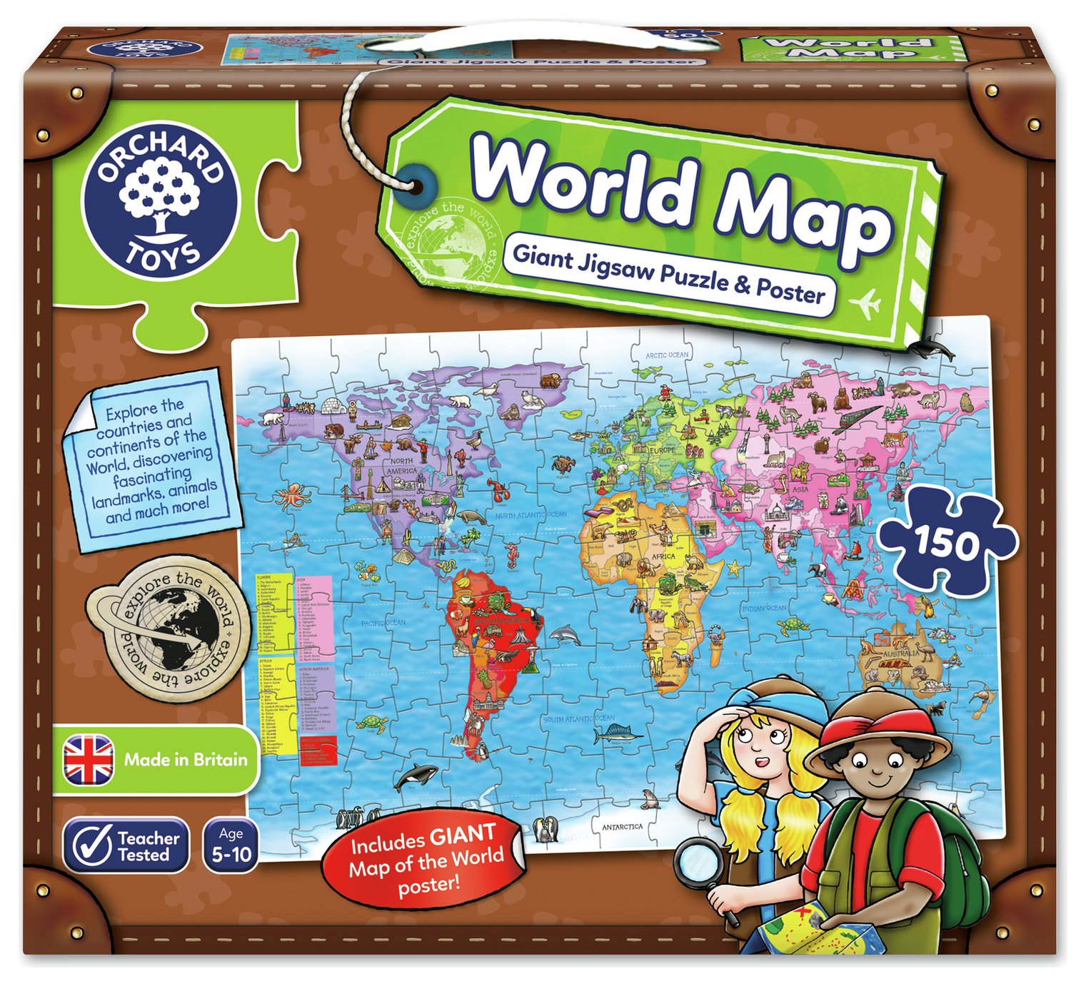 Orchard Toys World Map Puzzle and Poster.