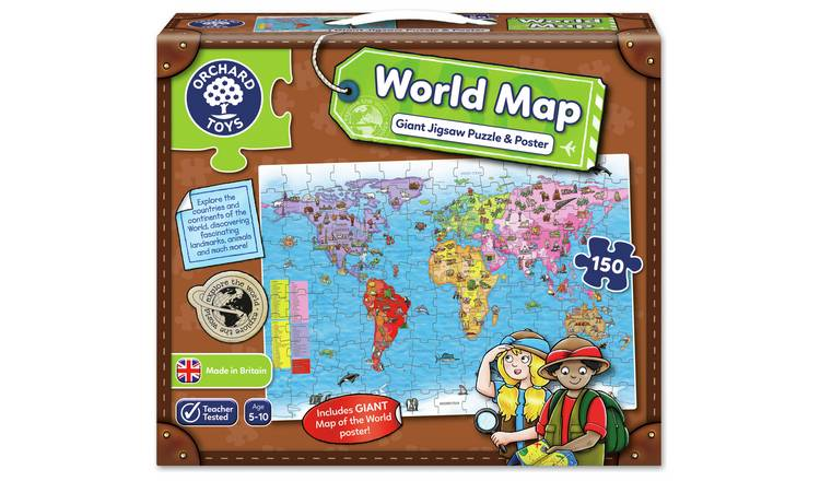 Buy Orchard Toys World Map Puzzle and Poster | Puzzles and jigsaws | Argos