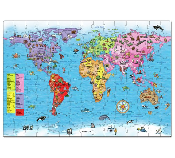 Buy orchard toys world map puzzle and poster puzzles and jigsaws click to zoom gumiabroncs Choice Image