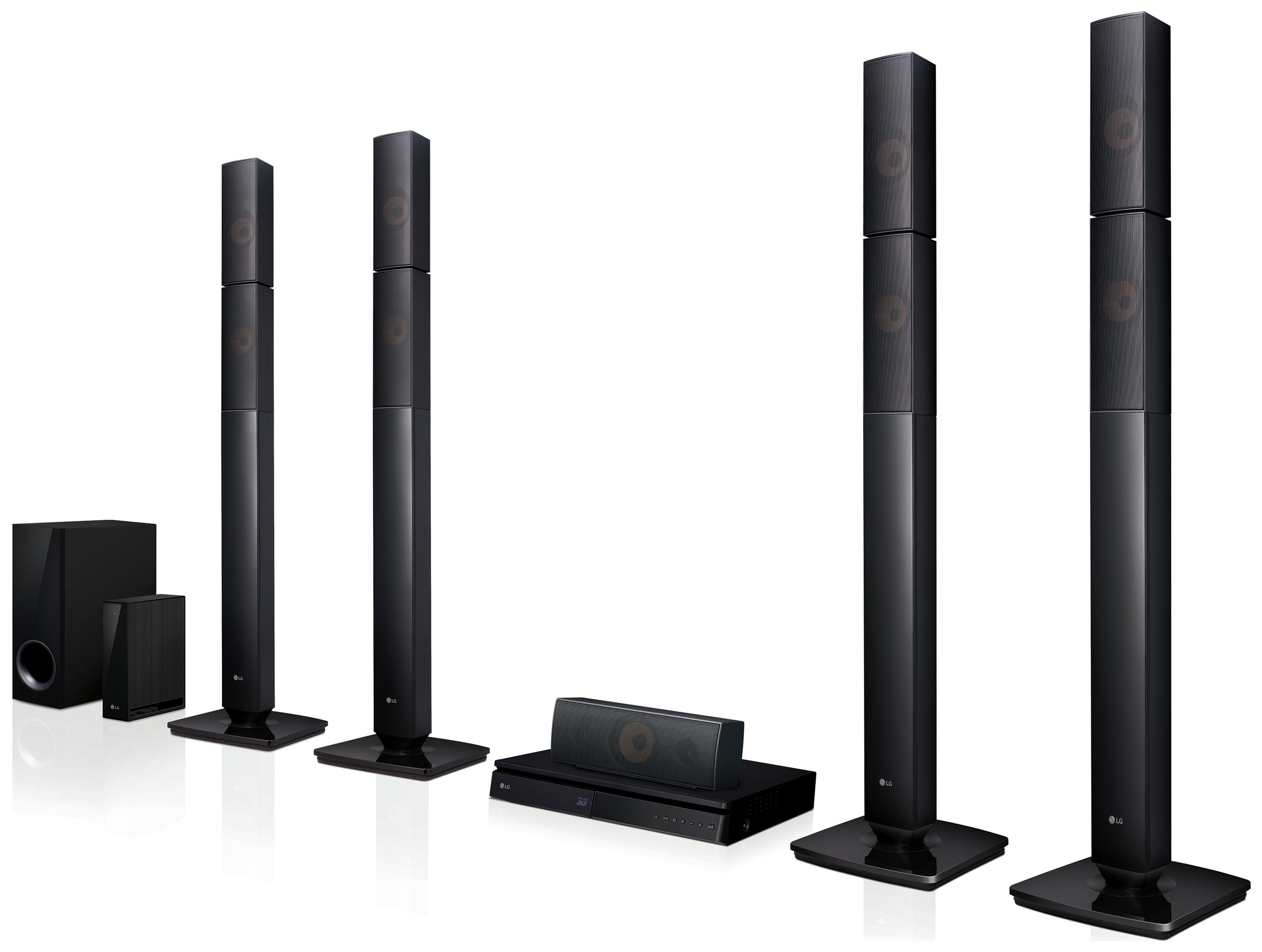 Image of LG LHB655NW 1000W 5.1 3D Blu Ray Home Cinema System