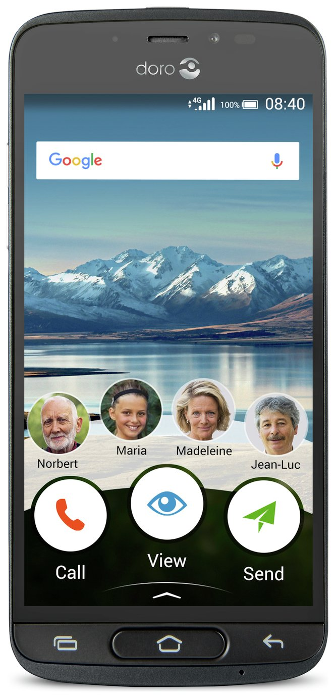 SIM Free Doro 8040 Mobile Phone - Black