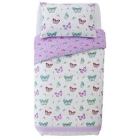 Collection Ditsy Butterfly Cotton Rich Bedding Set - Single