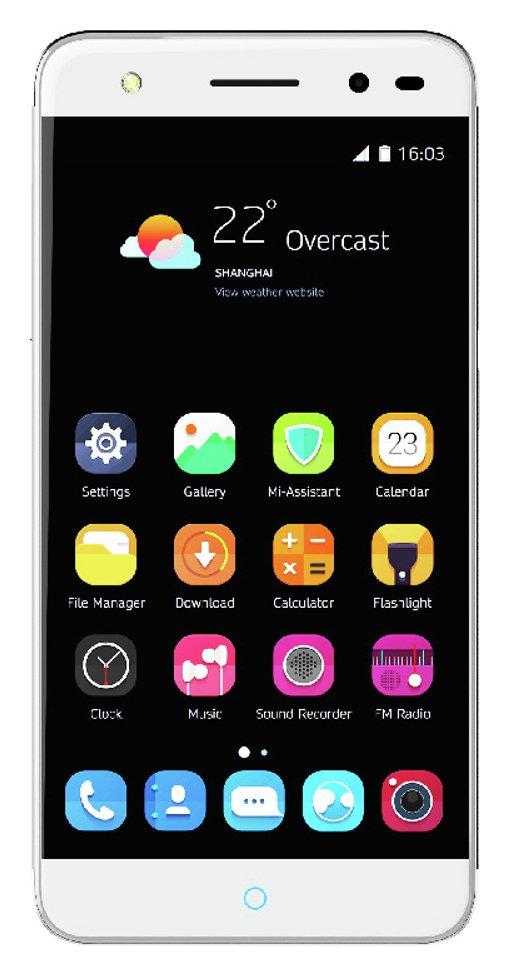 Sim Free ZTE Blade V7 Lite Mobile Phone - Silver.