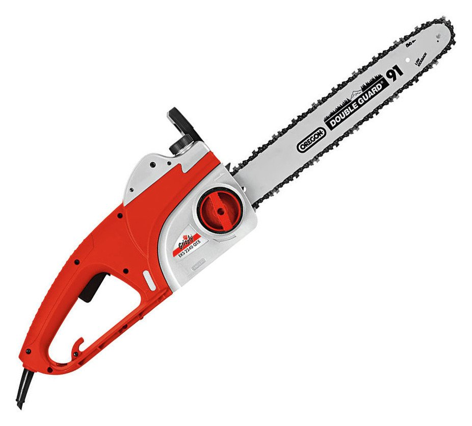 Image of Grizzly Tools 2200W Electric Chainsaw with 40cm Blade.