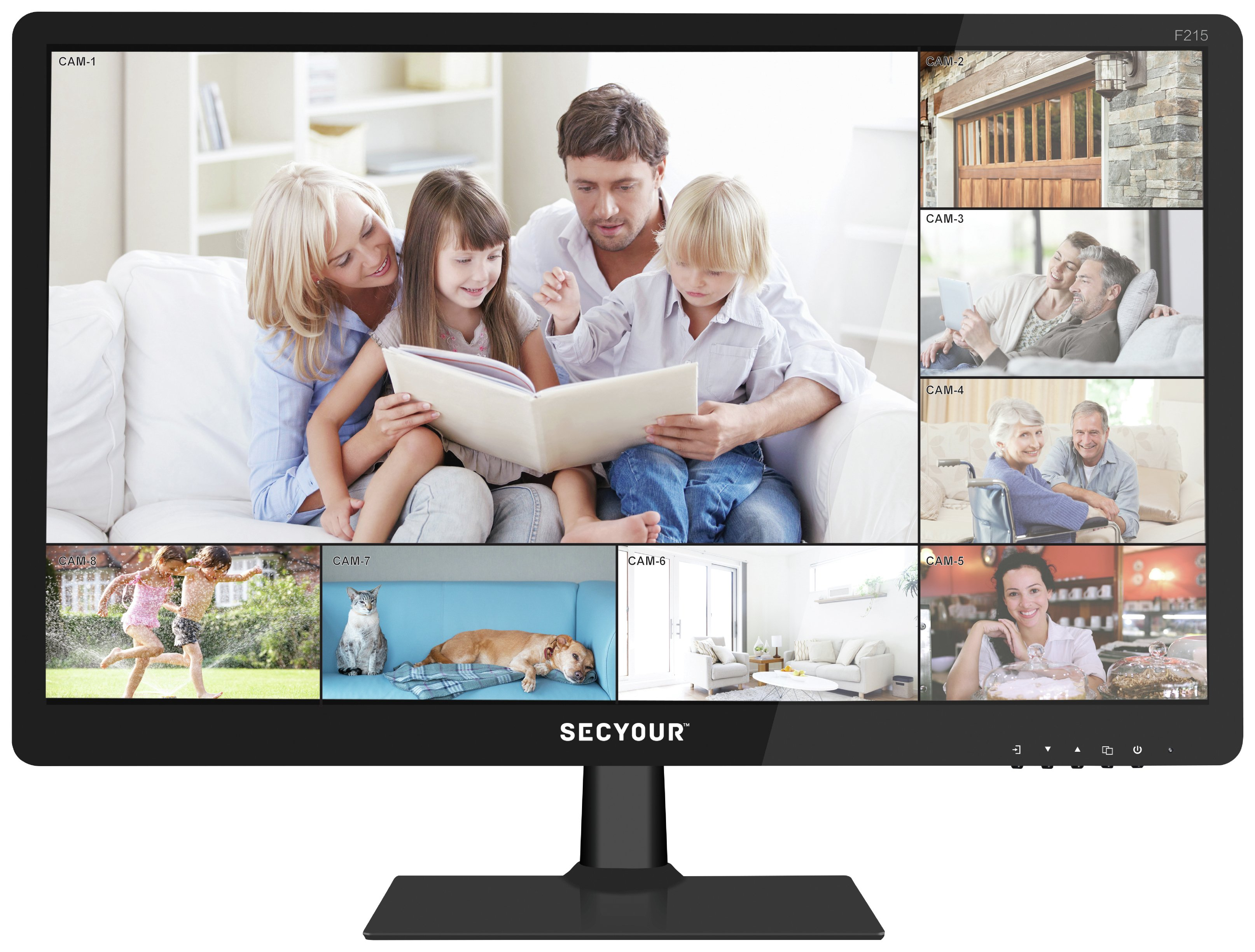 Image of 21 HDMI 1080P HD Security Monitor.