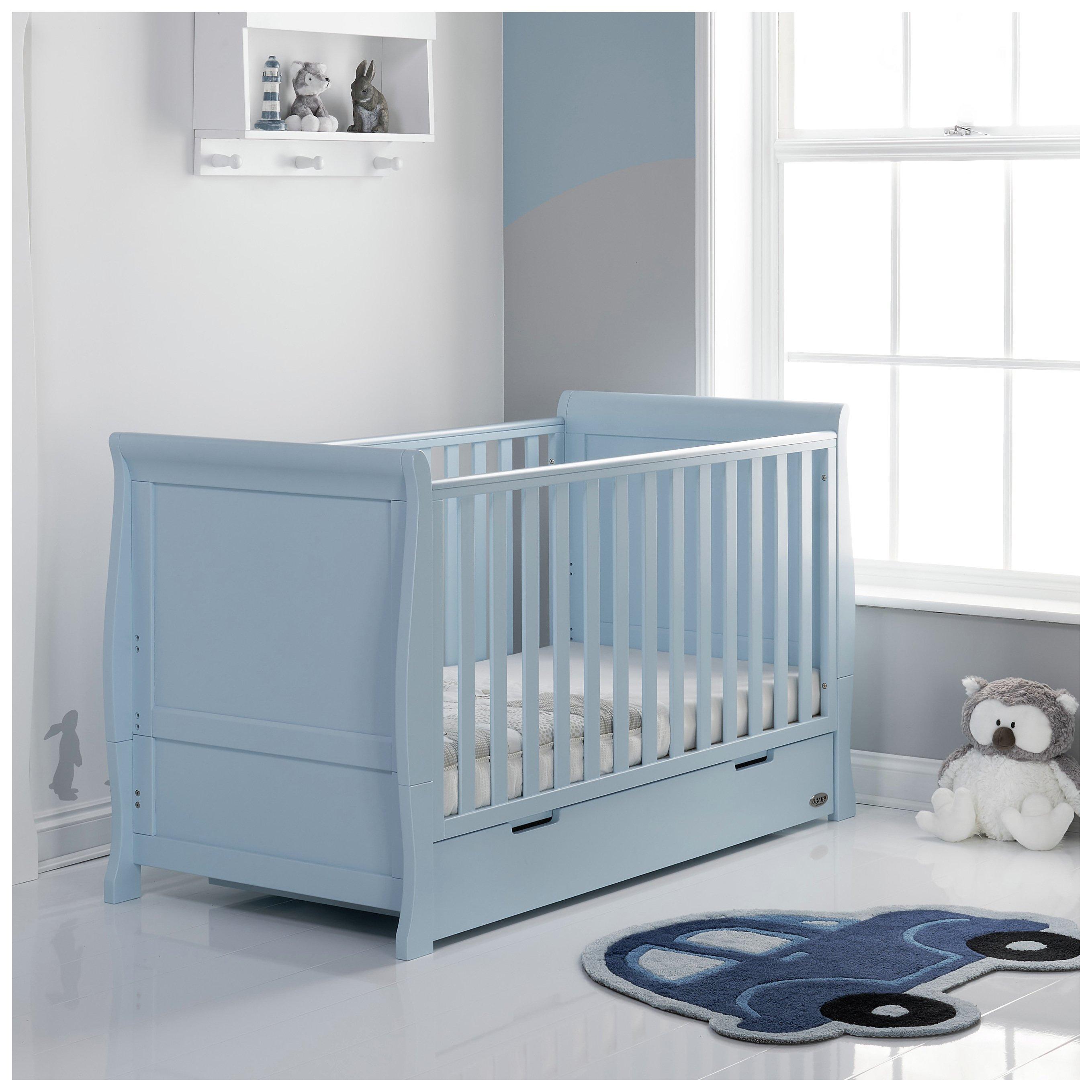Obaby Stamford Sleigh Cot Bed - Bonbon Blue
