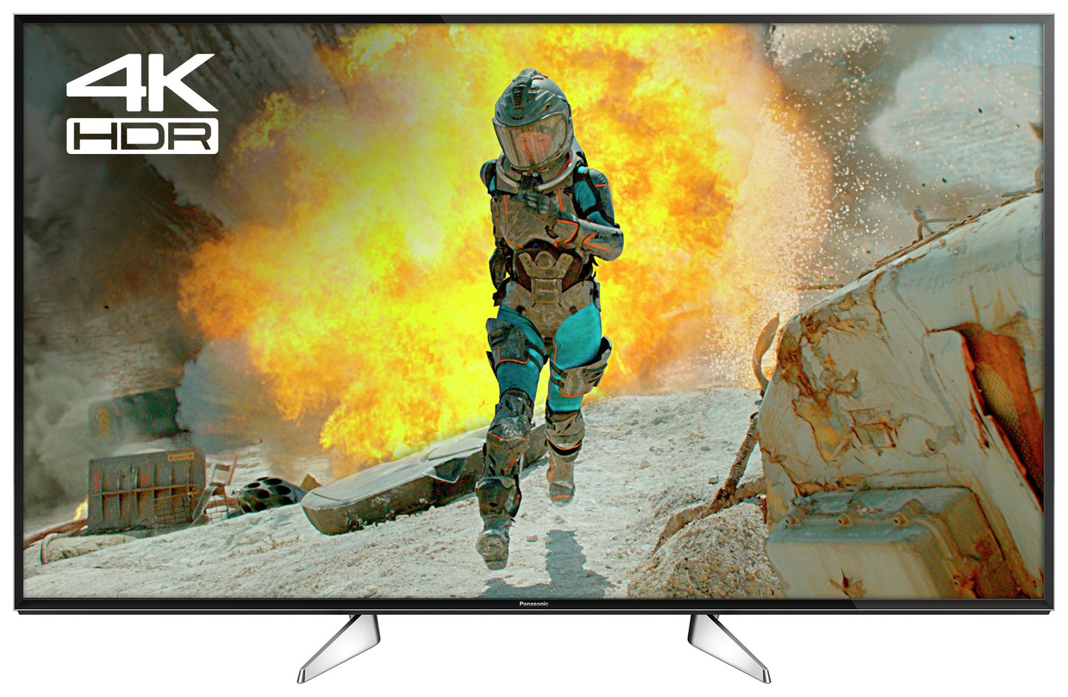 Panasonic 49TX-49EX600B 40 Inch Smart 4K UHD TV with HDR.
