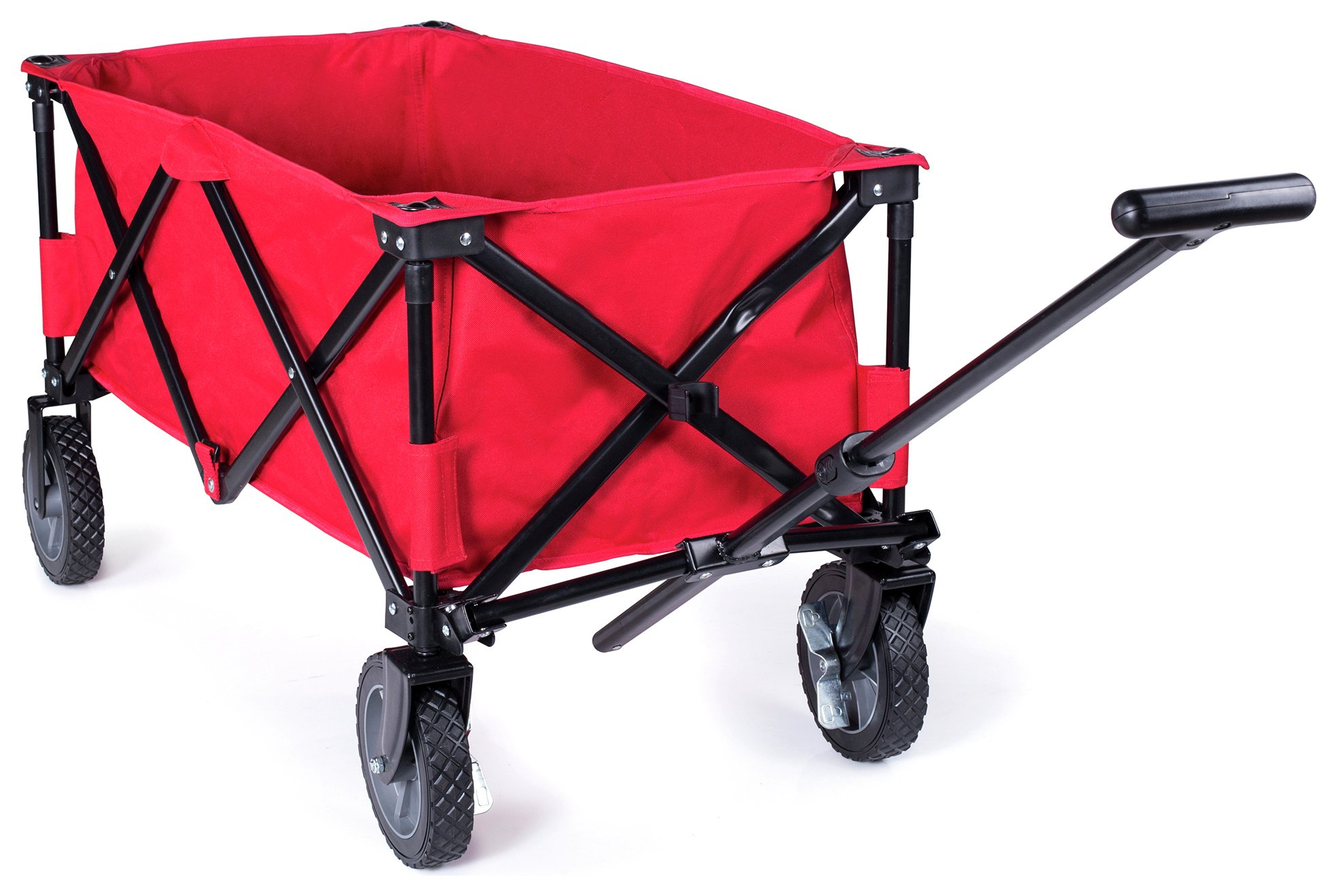 Image of Campart Travel Foldaway Trolley - Monaco Red