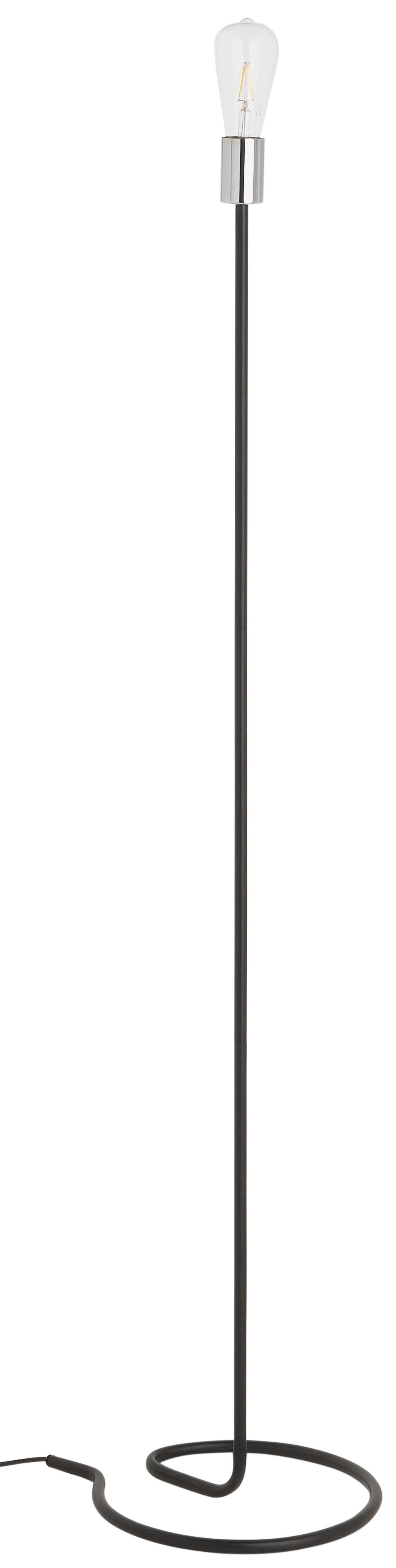 home spiralle floor lamp  black and chrome