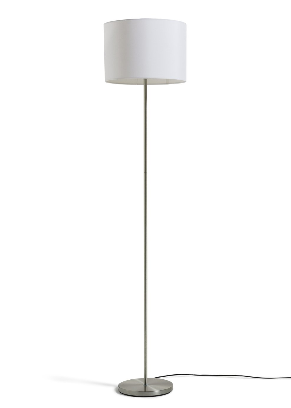 colourmatch satin stick floor lamp  super white
