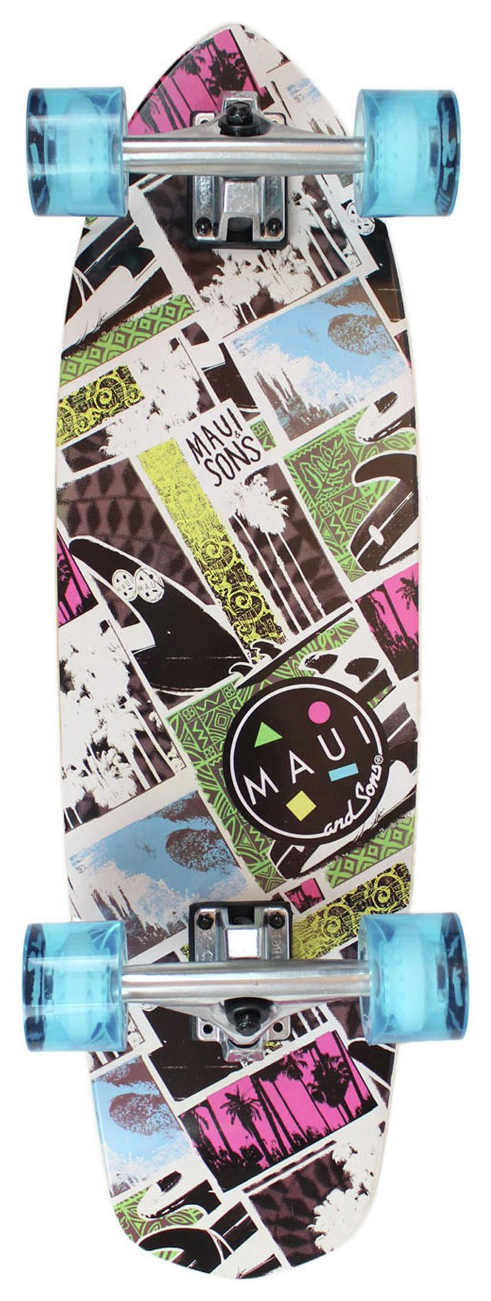 Maui and Sons Primo Cruiser Skateboard.