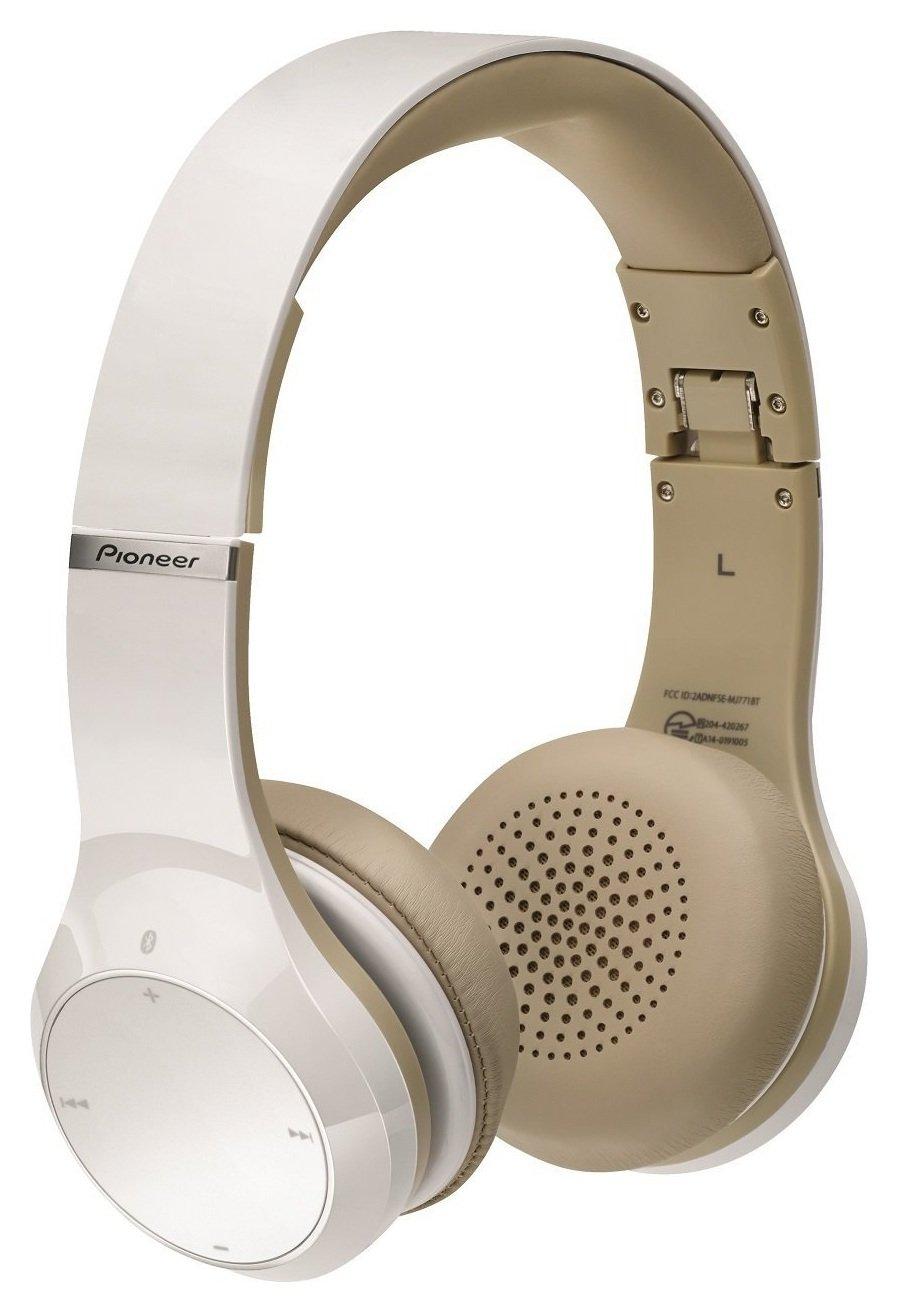 Pioneer SE-MJ771BT On-Ear Wireless Headphones - White.