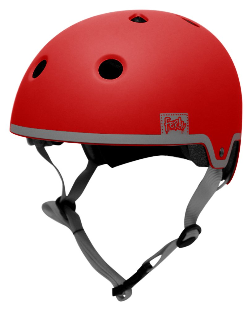 Image of Feral 55-58cm Bike Helmet - Red & Grey