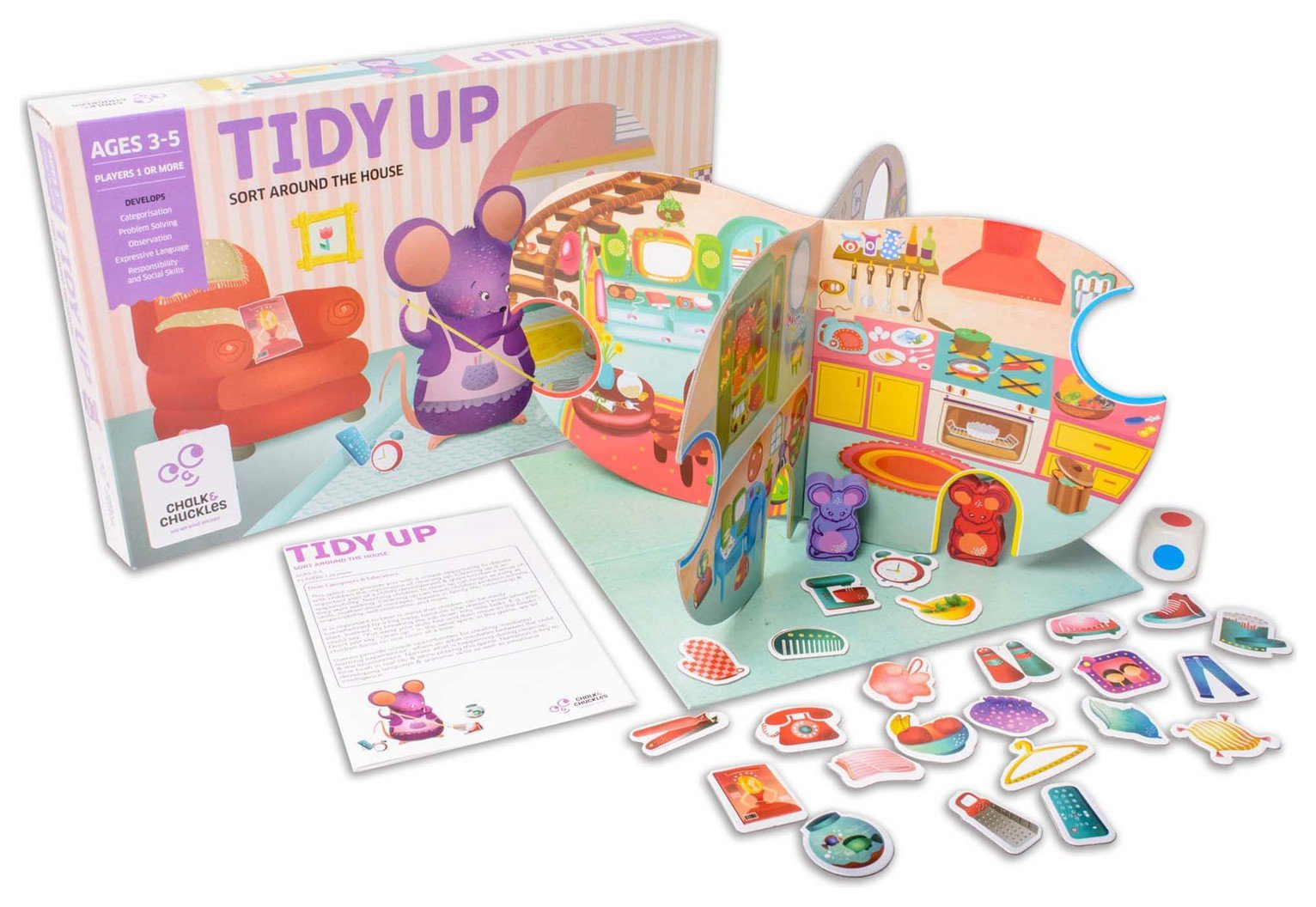 Image of EDUK8 Tidy Up Board Game