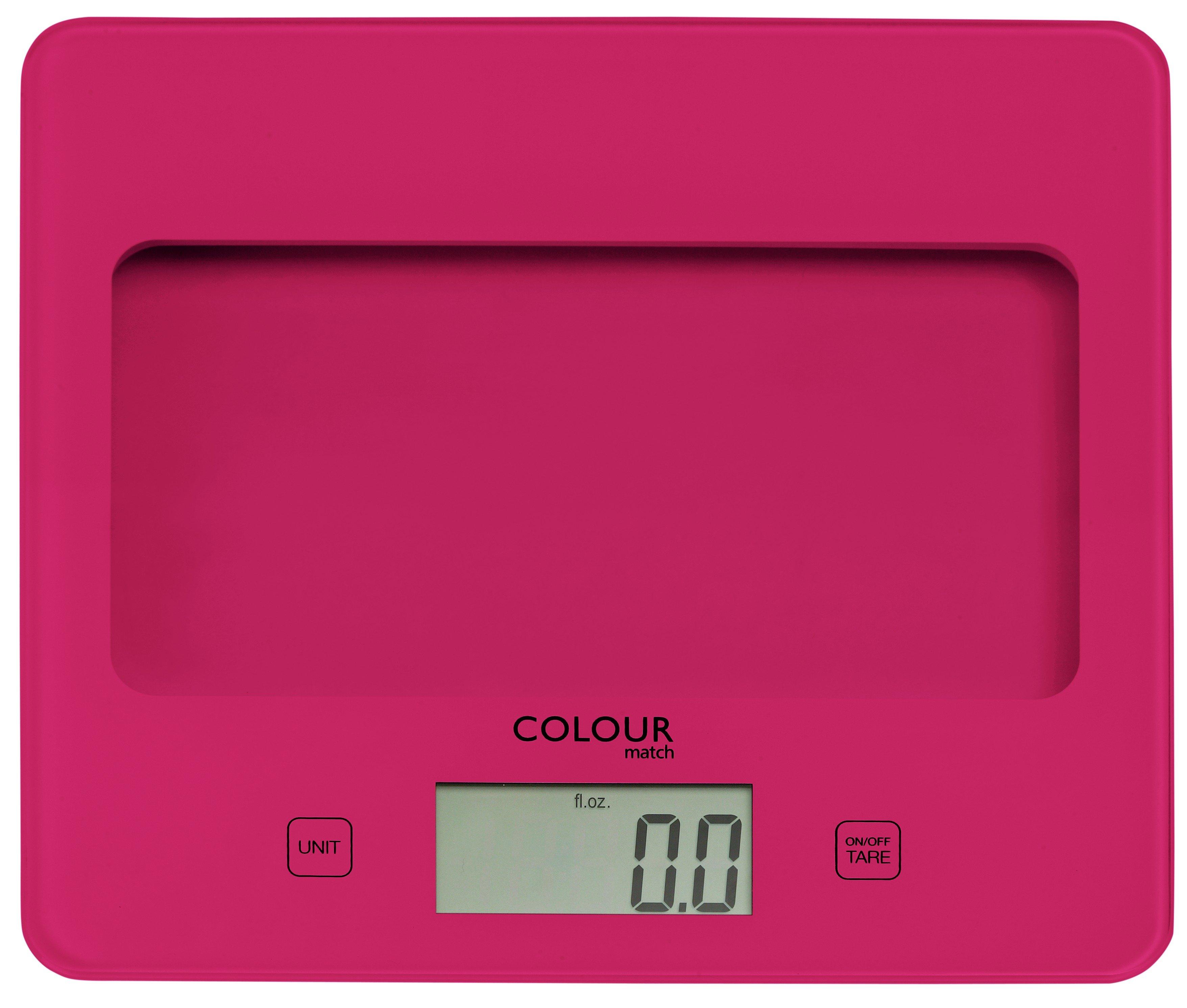ColourMatch Square Digital Kitchen Scale - Funky Fuchsia.