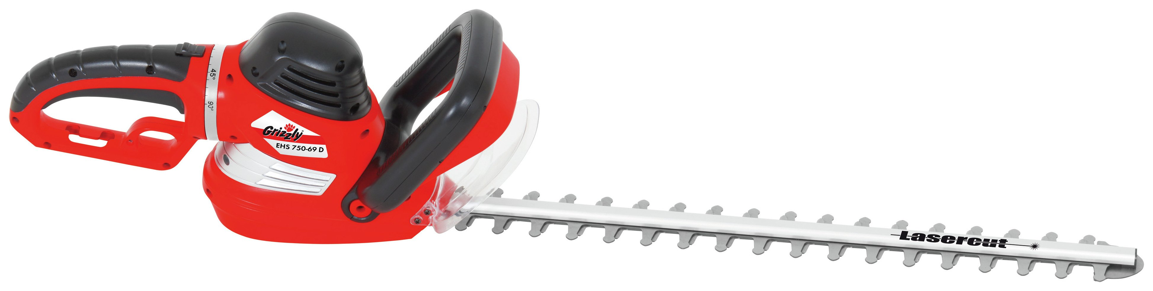 Image of Grizzly Tools ehs750-69d 69cm Corded Hedge Trimmer - 750W