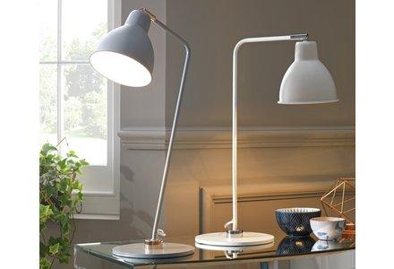 Heart of House Slane Leaning Task Desk Lamp - Grey & Copper