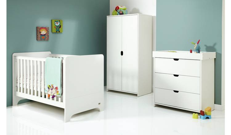 Mamas & Papas Rocco 3 Piece Nursery Furniture Set - White