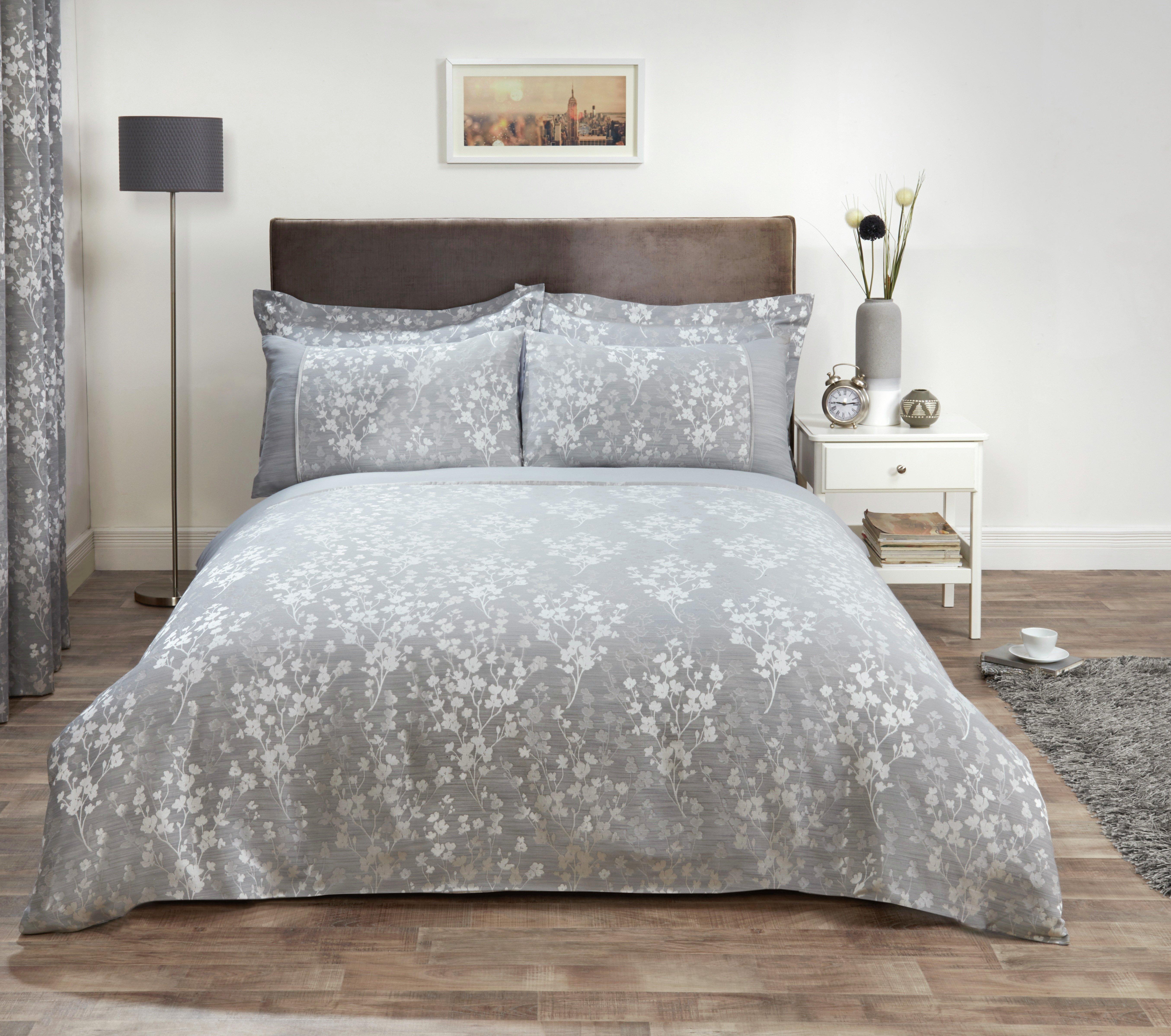 julian charles blossom silver duvet cover kingsize