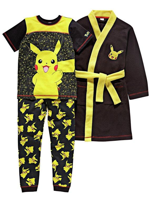 Buy Pokemon Pyjamas and Robe Set - 5-6 Years   Nightwear and ...