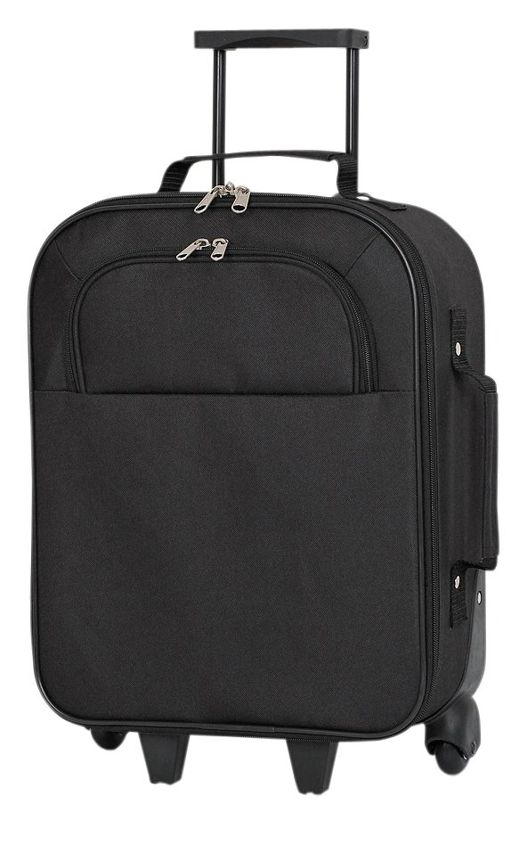 Image of Simple Value Soft 2 Wheeled Small Suitcase - Black