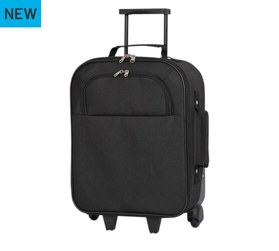 Buy Simple Value Soft 2 Wheeled Small Suitcase - Black at Argos.co ...