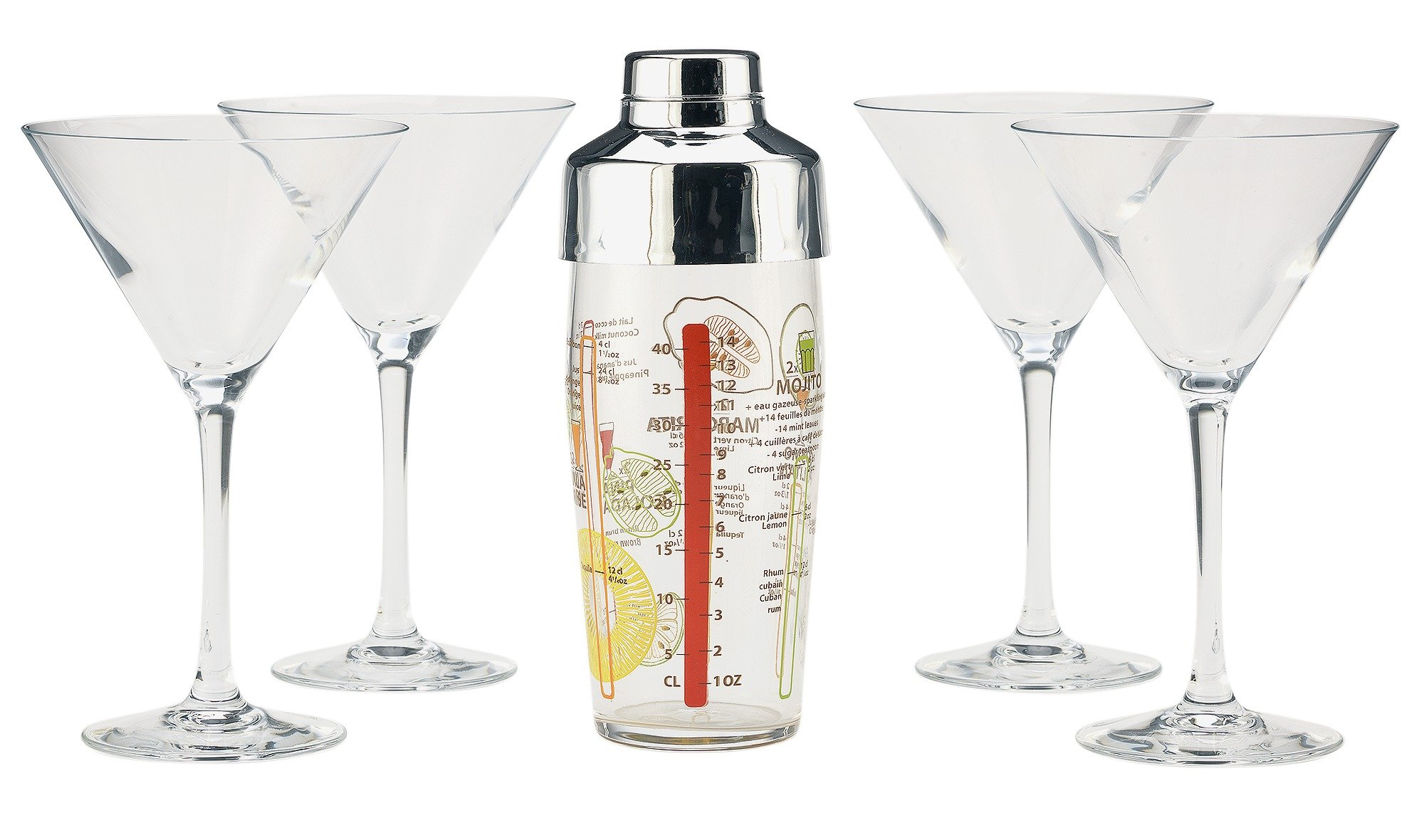 Luminarc Martini Glass Cocktail Making Set