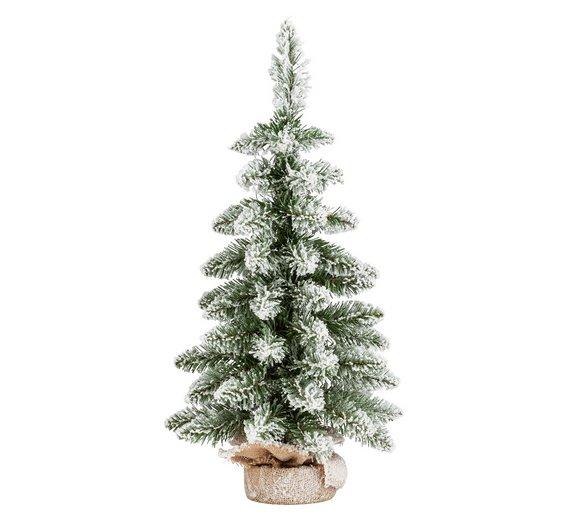 home 2ft flocked snowy christmas tree - 2 Ft Christmas Tree